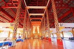 Buddhabild i Wat Suan Dok, Chiang Mai, Thailand Royaltyfria Foton