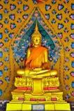 Buddhabild i watarunen Arkivfoton