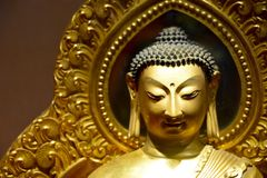 Buddhabild på Forbiddenet City royaltyfri foto