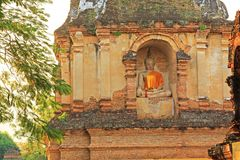 Buddhabild på Wat Jed Yod, Chiang Mai, Thailand Arkivfoton