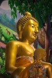 Buddhabilden i den buddistiska templet Royaltyfria Bilder