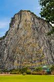 Buddhabilden på klippan Arkivbilder