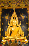 Buddhachinaraj beautiful color statue of a Buddhist of Thailand Stock Photography