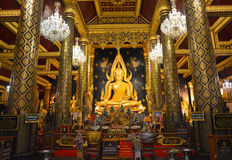 Buddhachinaraj beautiful color statue of a Buddhist of Thailand Stock Photo