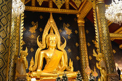 Buddhachinaraj beautiful color statue of a Buddhist of Thailand Royalty Free Stock Photo