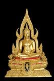 Buddhachinaraj Buddha image. Isolated golden buddhachinaraj buddha image Royalty Free Stock Photos