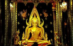 BuddhaChinarat Phitsanulok landskap, Thailand Royaltyfri Fotografi