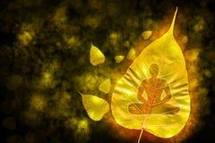 Buddhaen på bladet. Royaltyfria Bilder