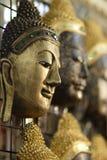 Buddhaf Gesichter Stockbild