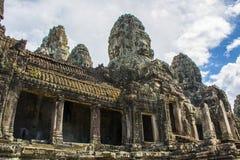 Buddhaframsidor av den Bayon templet Angkor Wat cambodia Royaltyfria Bilder