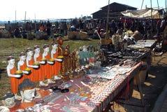 Buddhahantverksouvenir för försäljning Arkivfoto
