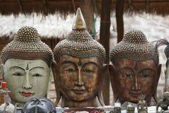 Buddhahuvud i souvenir Myanmar Royaltyfria Bilder