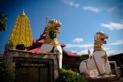 Buddhakhaya塔 免版税库存照片