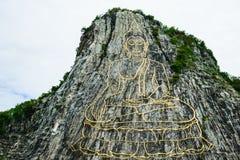 Buddhaklippa Arkivfoto