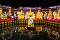 Buddhalyktafestival arkivbilder