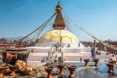 Buddhanath Stupa in Kathmandu Stockbild
