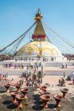 Buddhanath Stupa in Kathmandu Nepal Lizenzfreie Stockfotografie