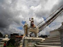 Buddhanath Temple Detail, Kathmandu, Aug 2011 Royalty Free Stock Photography