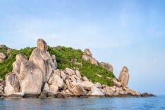 Buddhapunkt på udde i den Ko Tao ön Royaltyfria Foton
