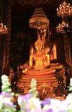 Buddharupa在Wat Bowonniwet Vihara 库存照片