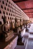 buddhas收集老挝luang prabang 免版税库存图片
