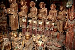 Buddhas στις σπηλιές Pindaya Στοκ εικόνες με δικαίωμα ελεύθερης χρήσης