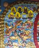 Buddhas в виске, Чэнду, фарфор стоковое изображение