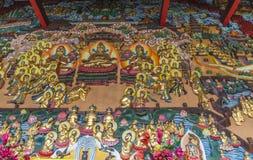 Buddhas в виске, Чэнду, фарфор стоковые изображения