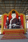 Buddhas в пагоде стоковое изображение