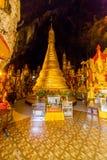 Buddhas в пещерах Pindaya, Мьянма стоковые фото