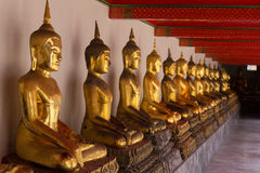 buddhas золотистые стоковое фото