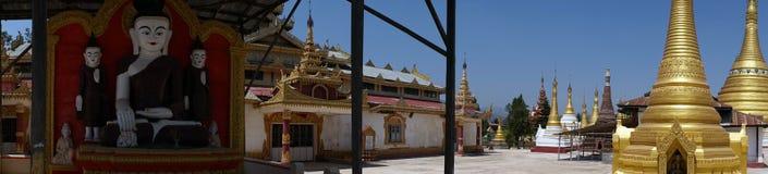 Buddhas и stupas стоковое изображение rf