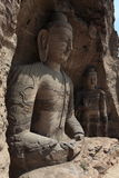 Buddhas монастыря пещеры Yungang Datong стоковое изображение rf