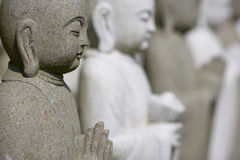 buddhas собирают meditating стоковые фото