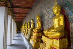 buddhas行 免版税图库摄影