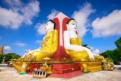 Buddhas in Bago, Myanmar Stock Photo