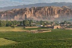 The Buddhas of Bamiyan. Bamiyan valley - hindu kush region Stock Photos