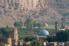 The Buddhas of Bamiyan. Bamiyan valley - hindu kush region Stock Image