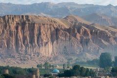 The Buddhas of Bamiyan Royalty Free Stock Image