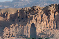 The Buddhas of Bamiyan. Bamiyan valley - hindu kush region Royalty Free Stock Photo