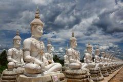 Buddhas bianco Immagine Stock
