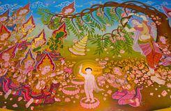 Buddhas Biografie: Geburt des Buddhas Lizenzfreies Stockfoto