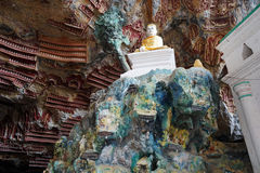 Buddhas in cave Royalty Free Stock Image
