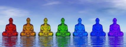 Buddhas Chakra - 3D представляют Стоковое Изображение