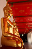 Buddhas d'or Images libres de droits