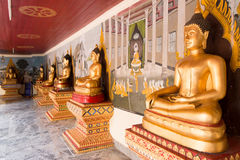Buddhas d'or Image stock