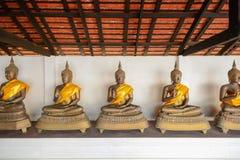 Buddhas d'ottone antico immagine stock