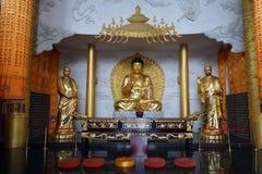 Buddhas dans le monastère Image libre de droits