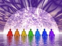 Buddhas de Chakra - 3D rendem Imagem de Stock