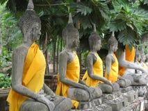Buddhas en línea fotos de archivo libres de regalías